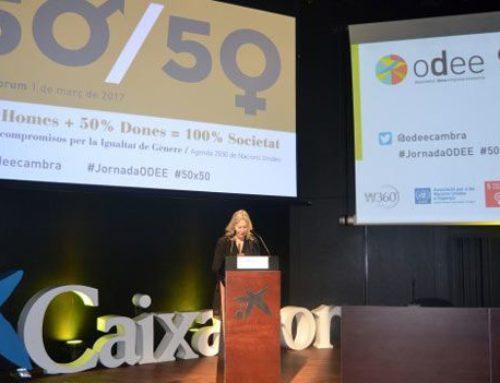 VIII Jornada anual de l'ODEE Observatori Dona Empresa i Economia de la Cambra de Comerç de Barcelona en el magnífico auditorio del CaixaFòrum.