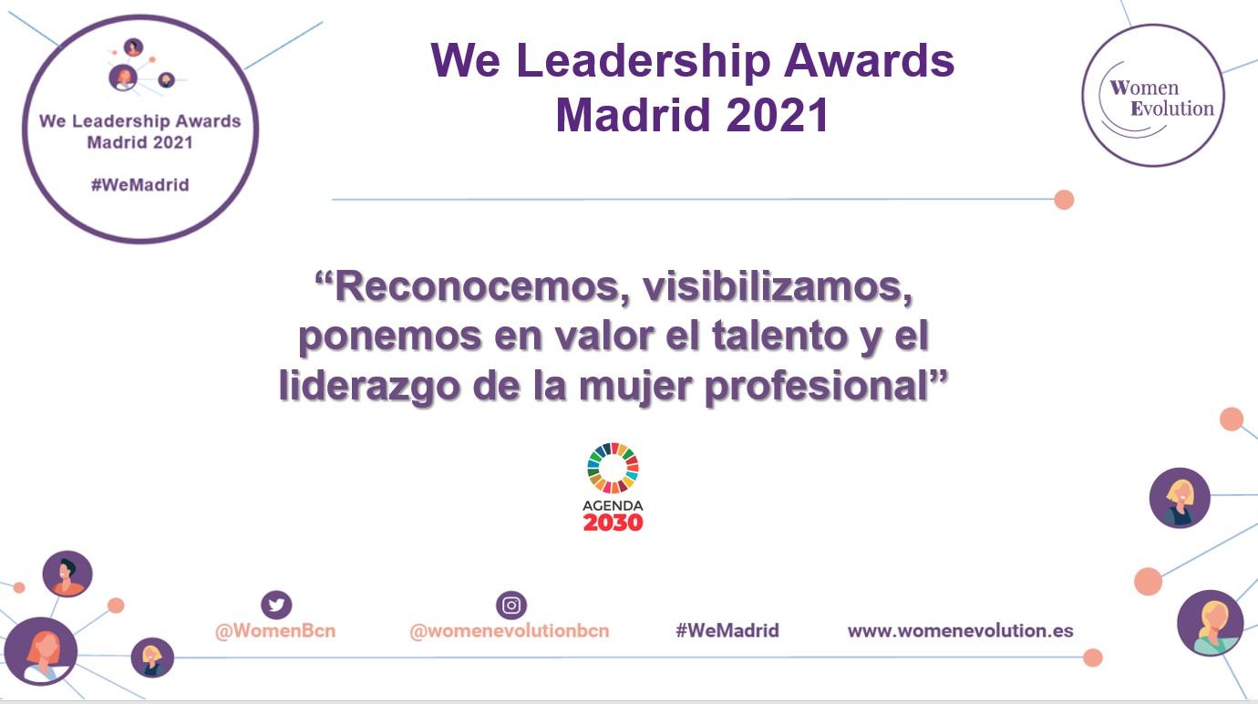 We Leadership Awards Madrid 2021